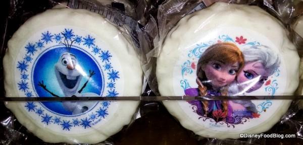 Rice Krispie Treats with a Frozen Theme