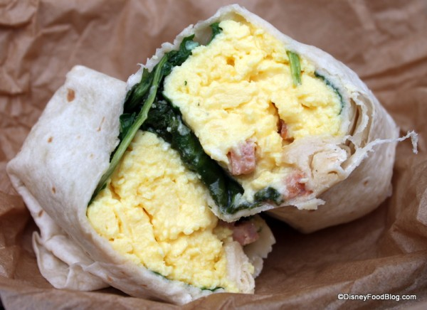 Hot Breakfast Wrap -- Cross Section