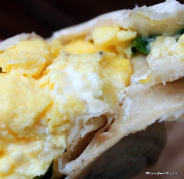 Hot Breakfast Wrap -- Up Close