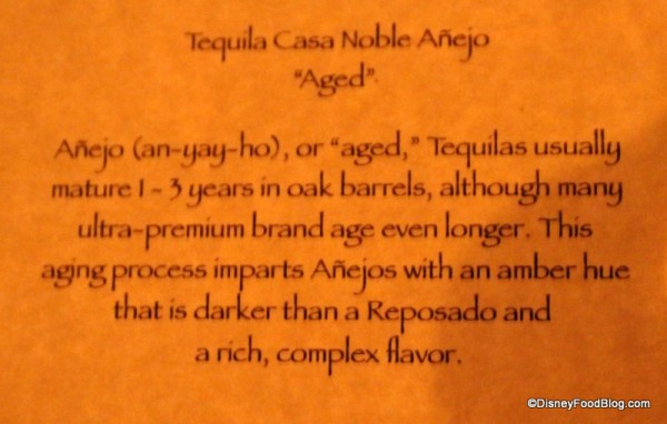 Tequila Anejo description
