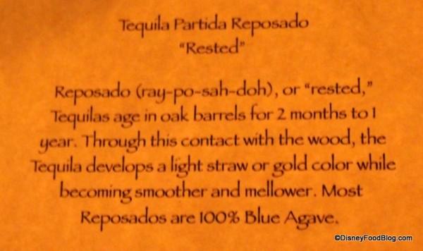 Tequila Reposada description