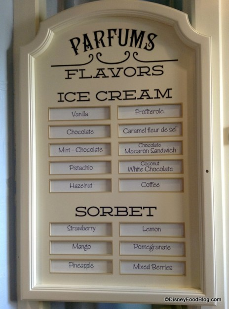 List of 16 Flavors