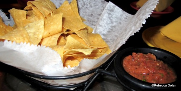 Chips and salsa while you peruse the menu