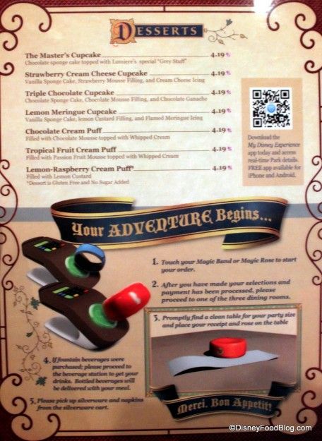 Desserts and How Things Work at Be Our Guest -- Click to Enlarge