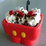 NEW! Mickey Kitchen Sink Sundae (AKA The Mickey Pants Sundae) in Walt Disney World!