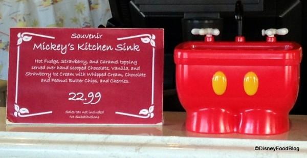 Mickey Kitchen Sink Sundae Display
