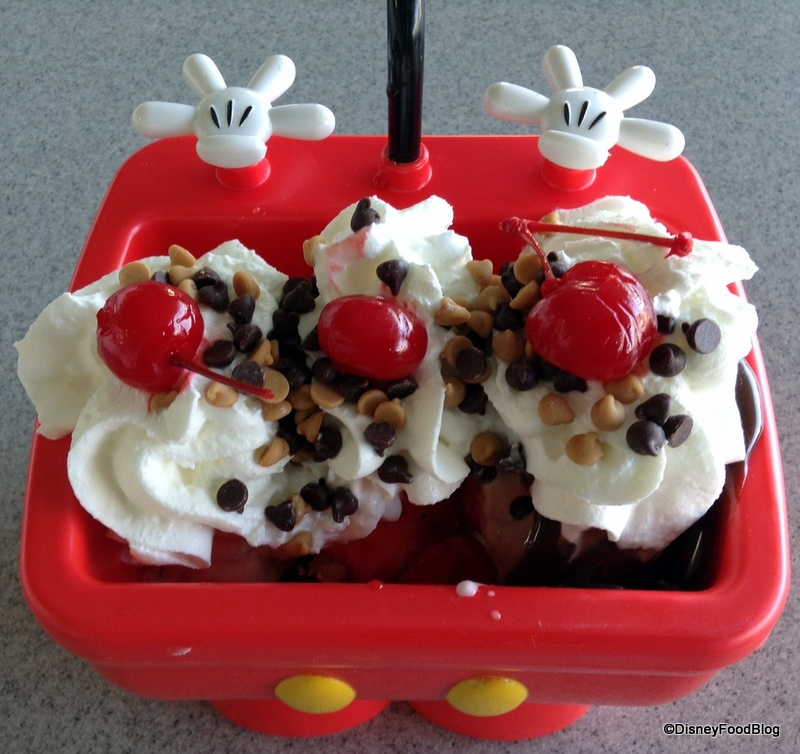 Amazing Mickey Kitchen Sink Sundae From Above    Ice Cream Close Up