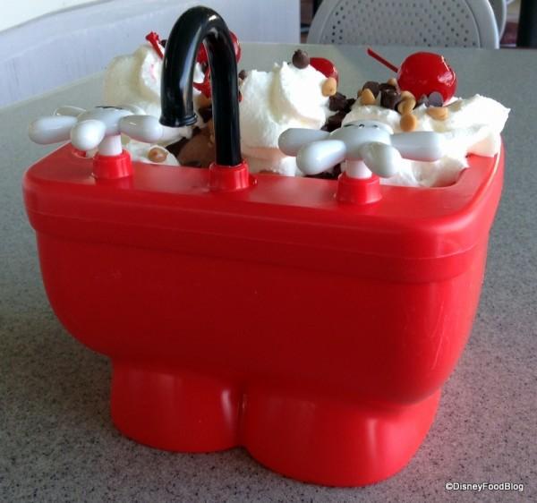 Mickey Kitchen Sink Sundae from behind