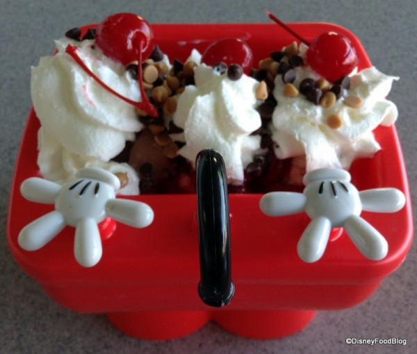 Mickey Kitchen Sink Sundae from above -- faucet close up