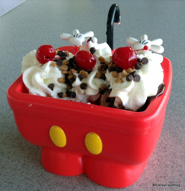 awesome Kitchen Sink Disney Boardwalk #6: Mickey Kitchen Sink Sundae (AKA The Mickey Pants Sundae) in Walt Disney