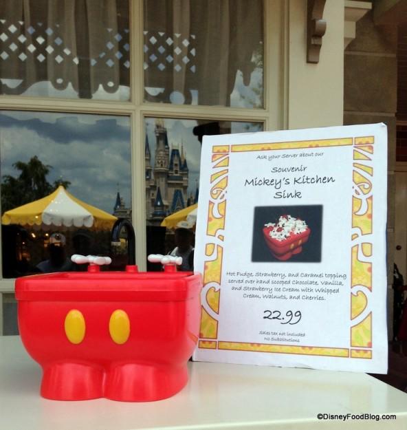 Mickey Kitchen Sink Sundae