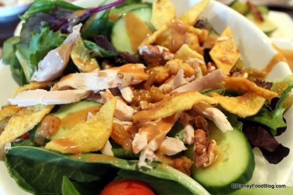 Salad with Peanut-Coconut Dressing
