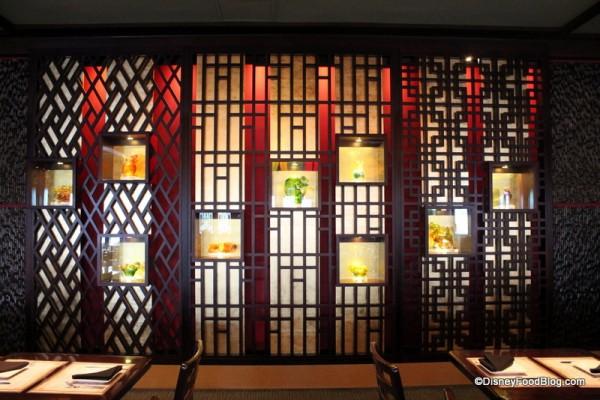Display of Nine Glass Dragons