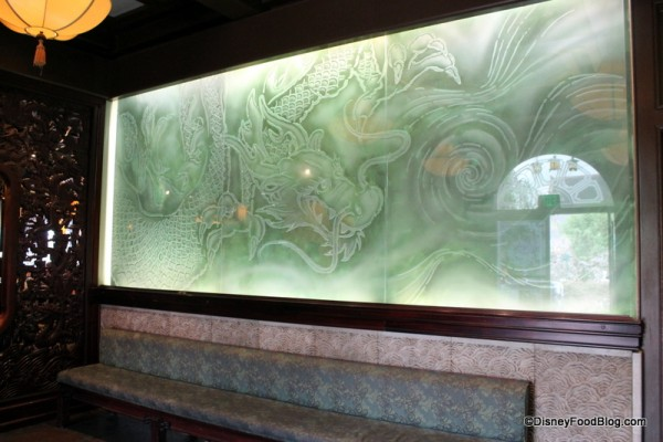 Glass etching in entrance
