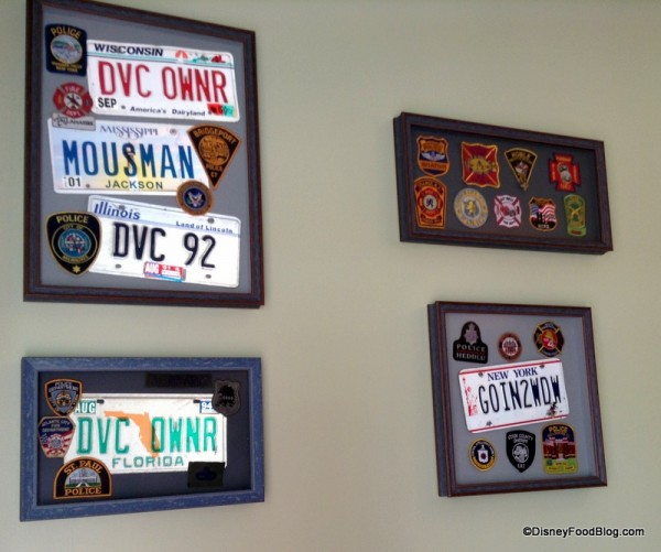 Framed patches and license plates
