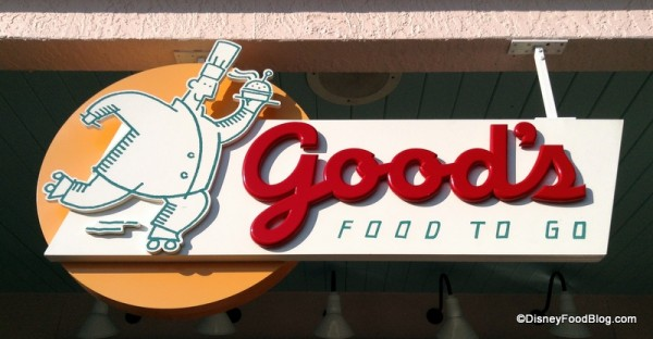 Good's Food To Go Sign