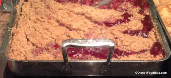 Batch of hot Cherry Cobbler