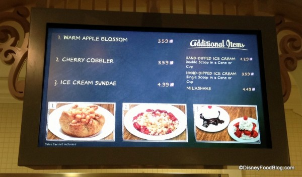 Bakery Menu at Riverside Mill Food Court