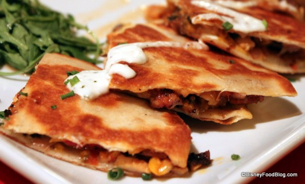Smoked Chicken Quesadilla --  Up Close
