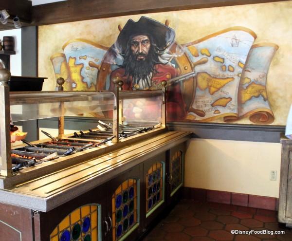 Blackbeard guarding the Toppings Bar Treasure