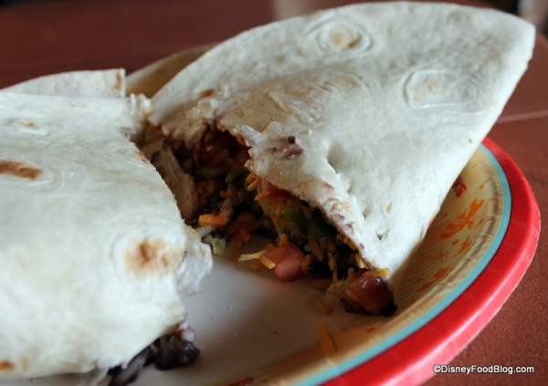 Vegetarian Burrito post-topping