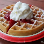 Review: Waffle with Strawberries and Whipped Cream at Sleepy Hollow in Disney World's Magic Kingdom
