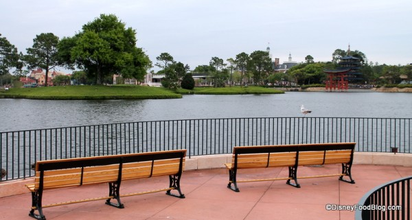 View of World Showcase from the UK Pavilion