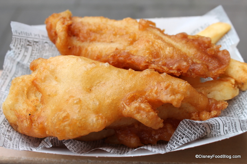 Review: Fish & Chips at the Yorkshire County Fish Shop in Disney World's Epcot | the disney food ...