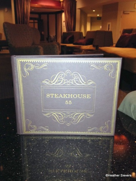 Steakhouse 55 Lounge Menu Book
