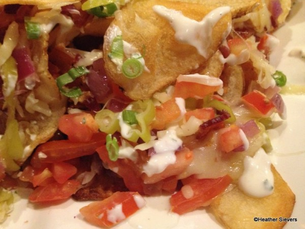 Smothered Potato Chips Close Up