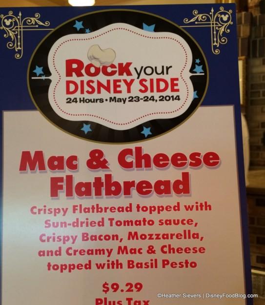 Mac & Cheese Flatbread at Boardwalk Pizza and Pasta!