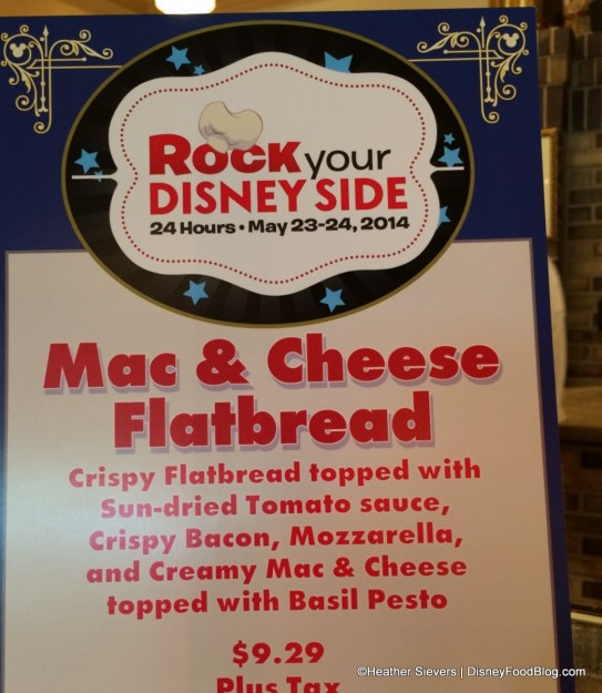 Mac & Cheese Flatbread at Boardwalk Pizza and Pasta!