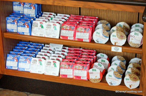 Grab and Go Cereal Selection