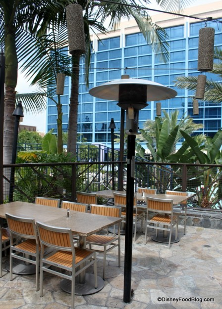 Disneyland Hotel and Outdoor Seating