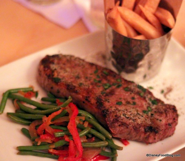 Grilled Strip Steak at Be Our Guest