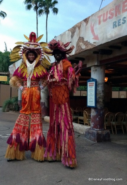 Stilt Walkers at Harambe Nights!