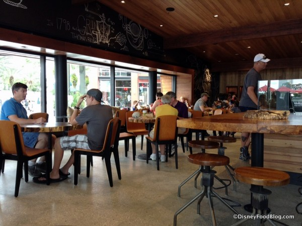 Indoor Seating at Starbucks