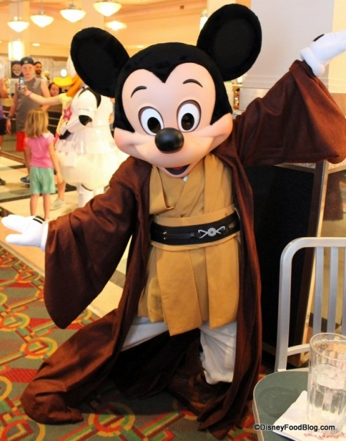 Jedi Mickey at Star Wars Jedi Mickey Character Dinner