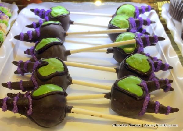 Maleficent Cake Pops