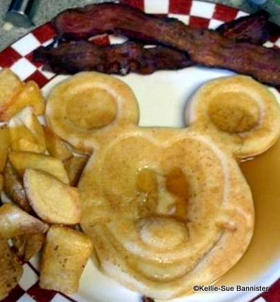 Homemade Mickey Pancake