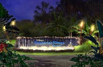 New Polynesian Village Resort Sign