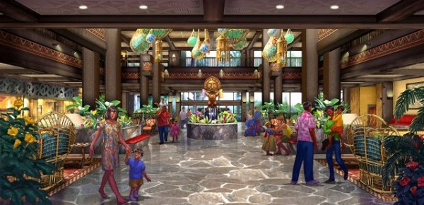 Concept Art -- Polynesian Village Resort Lobby