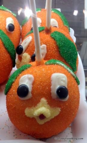 Orange Bird Caramel Apple