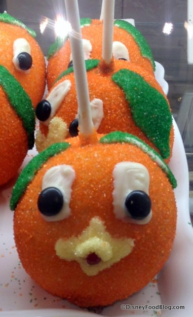 Orange Bird Caramel Apple