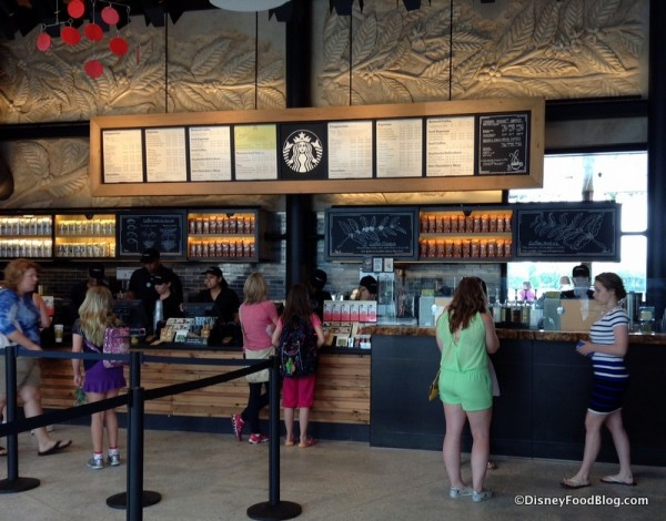 Ordering Area at Starbucks