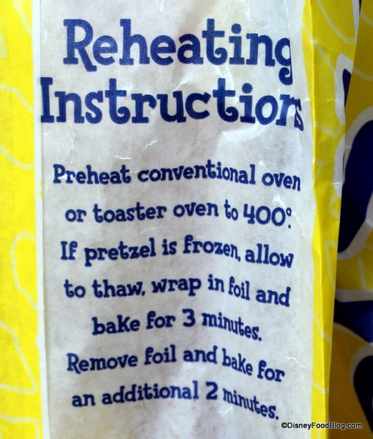 Reheating Instructions