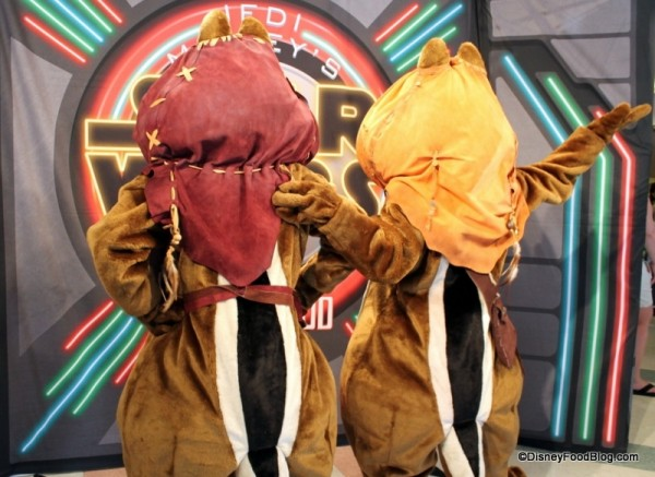 Ewok Chip and Dale up to their usual antics