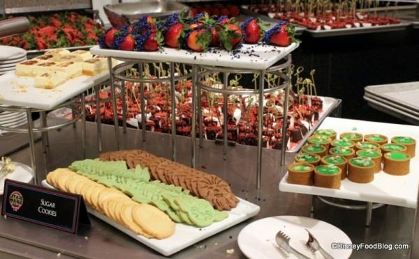 The Alliance dessert spread