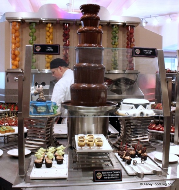 Chocolate Fountain and dessert buffet