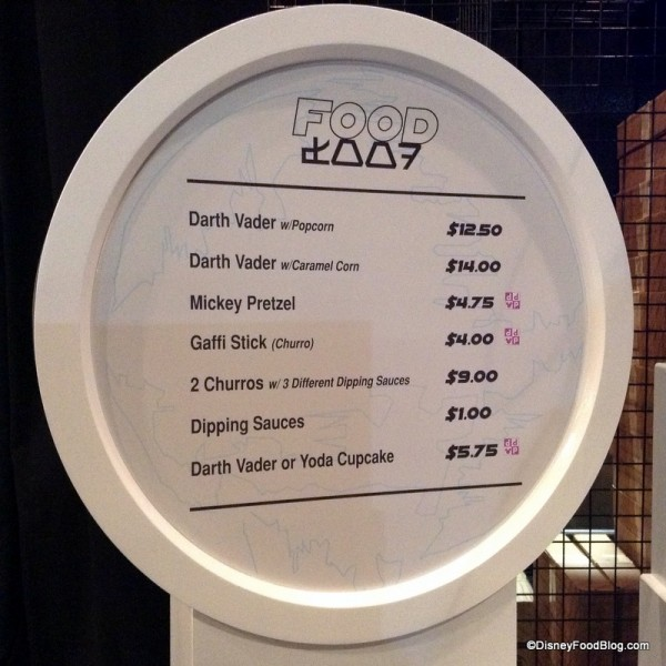 Ackbar Snack Bar menu